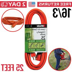 Outdoor Extension Cord Power Light Duty Cable Outlet Electri