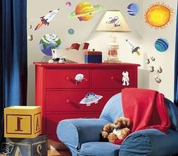 New OUTER SPACE 35 Wall Stickers PARTY DECORATIONS FAVORS