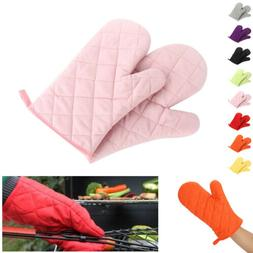 Pair of Oven Gloves Kitchen Cooking Pot Holder Thick Heat Re