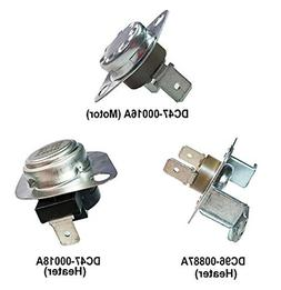 3 Pc Replacement Parts for Samsung Dryers, DC96-00887A, DC47