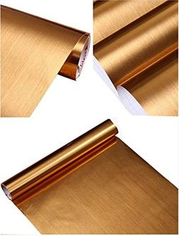 Peel and Stick Brushed Metal Contact Paper Self Adhesive Vin