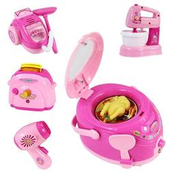 Pink Household Appliances Children Toaster Vacuum Cleaner Pr