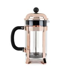 Pinky Up Piper Rose Gold Press Pot 5189 Copper Glass Stainle