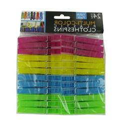 Multi-color plastic clothespins 30 Pack