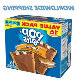 Pop-Tarts Frosted S'mores Toaster Pastries Value Pack 16 Ct
