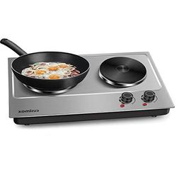 Portable Double Hot Plate Electric Cooktop Stove Stainless B