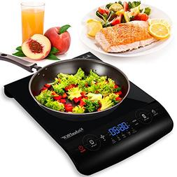 KitchenPROP 1800W LCD Portable Induction Cooktop Countertop