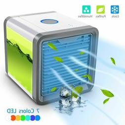 Portable Mini Air Conditioner Cool Cooling Bedroom Water Coo
