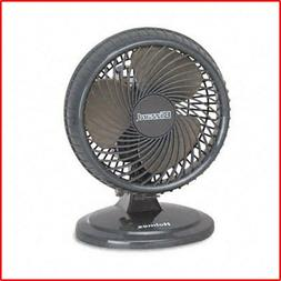 Portable Oscillating Table Fan Black Two Speed Settings Remo