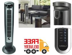 Portable Tower Fan With Remote Control  3 Quiet Speeds Elect