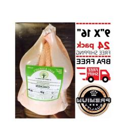 """POULTRY SHRINK BAGS 9"""" X 16"""" CHICKEN DUCK PROCESSING BPA FRE"""