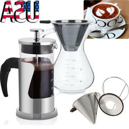 Pour Over Coffee Maker / Coffee Cone Filter - for Coffee Tea