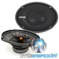 "MEMPHIS PRX6903 6""x9"" 3-WAY PEI TWEETERS COAXIAL SPEAKERS &"