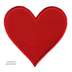RED HEART iron-on embroidered PATCH LOVE ROMANCE VALENTINE'S
