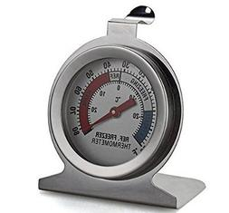 Refrigerator Freezer Thermometer Fridge DIAL Type Stainless
