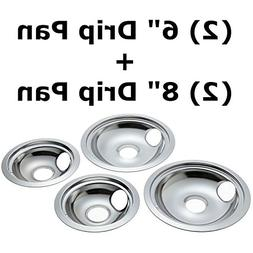 """4 Pack Chrome  6"""" and  8"""" Replacement for GE/Hotpoint Electr"""