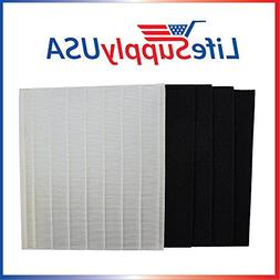 LifeSupplyUSA Replacement HEPA Filter Set for Winix Size 25
