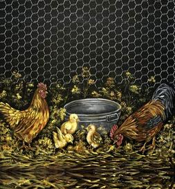 Appliance Art Rooster Family Decorative Magnetic Dishwasher