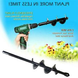 Roto Auger Drill Bit Attachment Dig Hole 9 Inch Bulb Garden