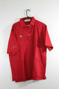Route 66 Assurant Solutions American Flag Polo Shirt Embroid