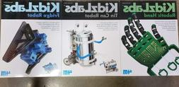 Toysmith - S.T.E.M. 3 Pack Science Kit Robotic Hand Tin Can