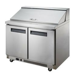 "Dukers Appliance USA Sandwich Salad Table Refrigerator 57"" W"