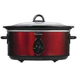 Brentwood SC-150R Slow Cooker- 6.5 quart ,Red