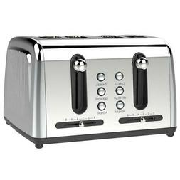 Brentwood Select TS-446S Extra Wide Slot 4-Slice Toaster, St