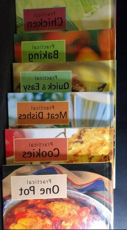 Set of 6 Practical Cookbooks Quick & Easy, Cookies, One Pot,