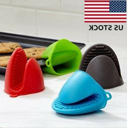 Silicone Oven Gloves Heat Resistant Mini Mitt Pot Holder Coo