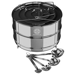 Simplify daily cooking with Blissware stackable stainless st
