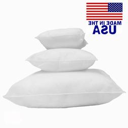 Mybecca Square Euro Pillow Form Insert ALL SIZES Made In USA