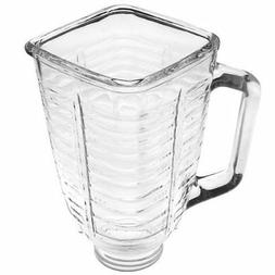 5 Cup Square Top Glass Blender Replacement Jar for Oster & O