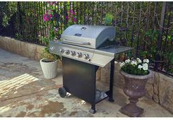 Stainless Steel 5-Burner Propane Gas Grill BBQ With Side Bur