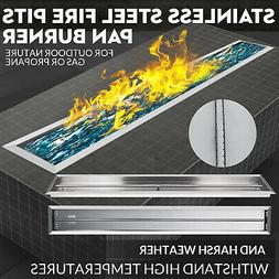 Vevor Stainless Steel Drop-In Fire Pit Pan and Burner,61 By