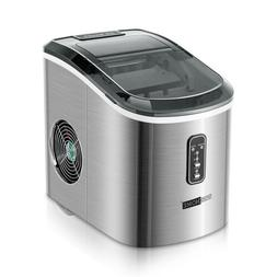 stainless steel electric ice cube maker countertop