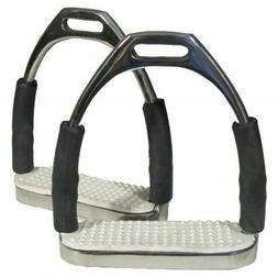 Stainless Steel Flex Jointed Irons Stirrups Stirrup w/ White