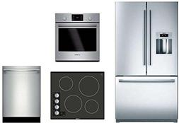 4 Piece Stainless Steel Kitchen Package With B21CL81SNS 36 F