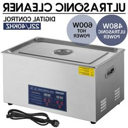 New Stainless Steel 6L Liter Industry Heated Ultrasonic Clea