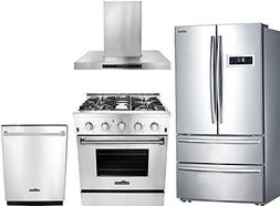 Thor Kitchen 4-Piece Stainless Steel Kitchen Package with HR