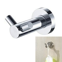 Stainless Steel Wall Mounted Hat Coat Daul Hook Bathroom Kit