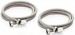Stainless Steel Washer Hoses braided 2 pack 4ft
