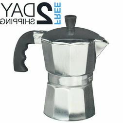 Stovetop Espresso Coffee Maker Pot Moka Latte Italian Cookto