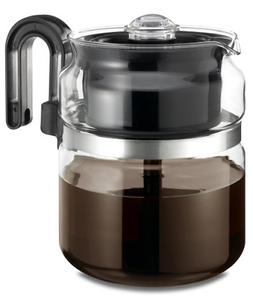 Stovetop Percolator Coffee Pot Glass 8 cup 40 oz ...