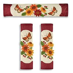 Sunflower Kitchen Décor Appliance Door Handle Covers for Re