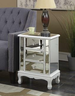 Table nightstand with 3 drawers for living room,bedroom mirr