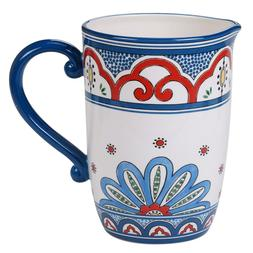 Traditional Multi Floral Tangier Ceramic Pitcher Dishwasher