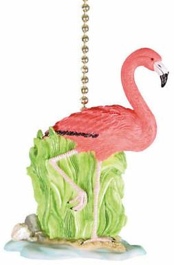Tropical Flamingo Ceiling Fan Pull Chain Decor