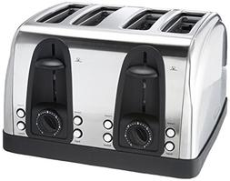 Brentwood Ts-445S 4-Slice Elegant Toaster with Brushed Stain