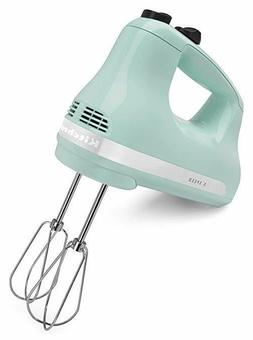 Ultra Power 5-Speed Ice Blue Hand Mixer Kitchen Utensils Bea